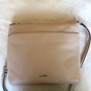 Cream cross-body bag